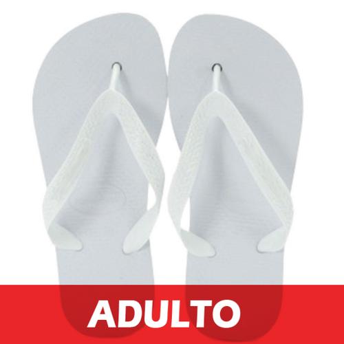 Chinelo Adulto para Sublimação - Tecido Branco