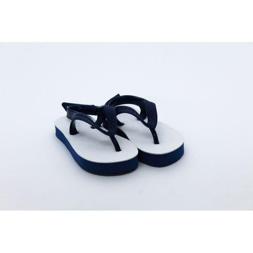 Chinelo Sandália Azul Infantil para Sublimação - Tecido Branco