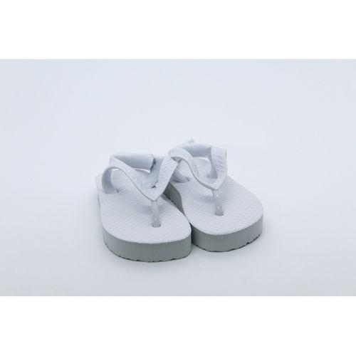 Chinelo Sandália Infantil para Sublimação - Tecido Branco
