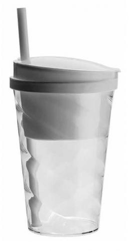 Copo lanche (snake cup) 400ml + 285ml - tampa, canudo e compartimento interno