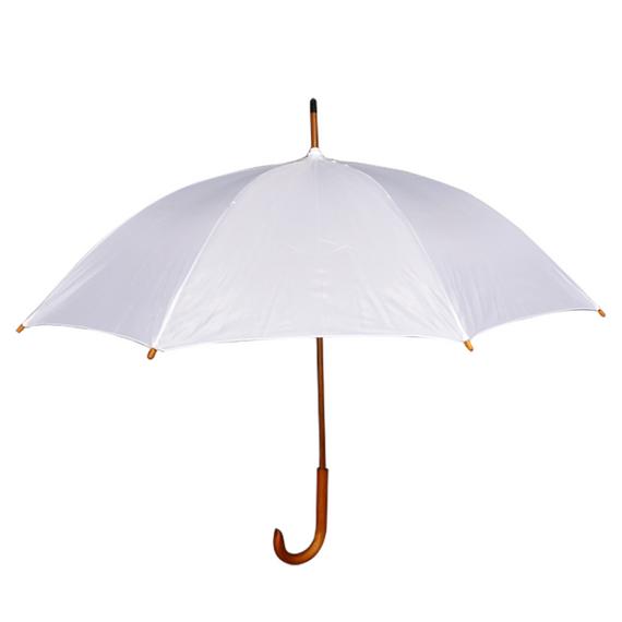 Guarda-chuva longo automático cabo curvo
