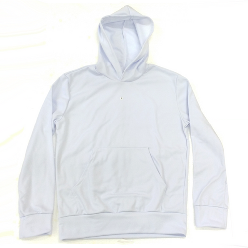 Moletom Canguru Sublimável - branco 100% sublimável