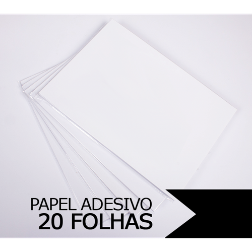 Papel Adesivo Glossy A4, 135g - 20 folhas