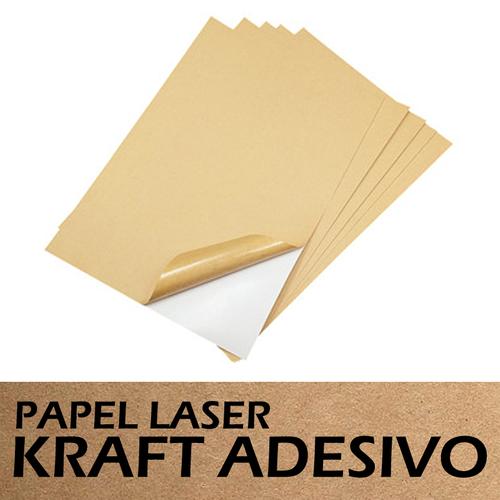 Papel adesivo kraft a4 10 folhas laser