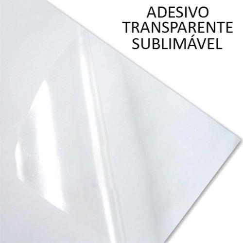 Papel Adesivo Sublimável Transparente - 10 folhas