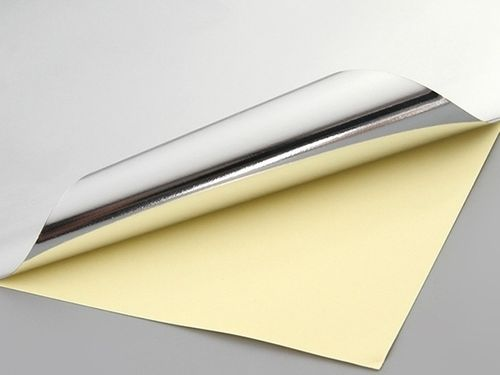 Papel Adesivo Sublimável prata - 10 folhas