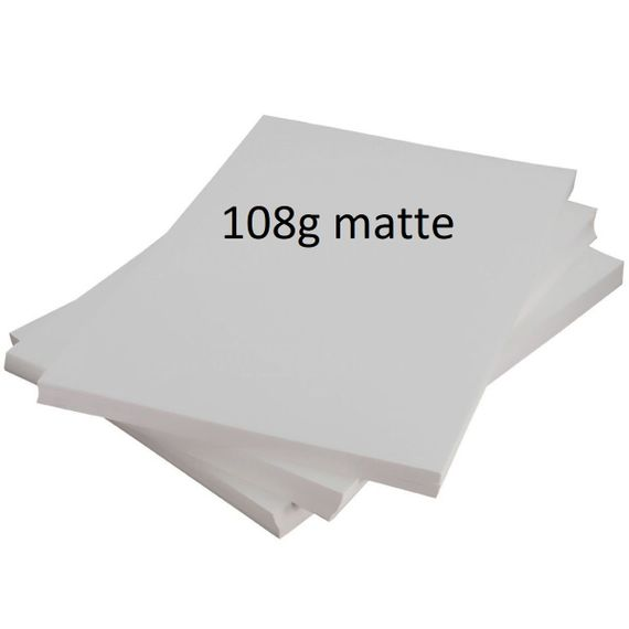 Papel Fotográfico A4 108gr matte (fosco ) 100 folhas