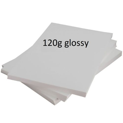 Papel Fotográfico A4 120gr glossy (brilho) - 100 folhas