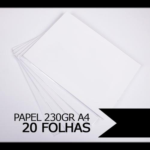 Papel Fotográfico Glossy à Prova D'àgua, 230gr A4 - 20 folhas