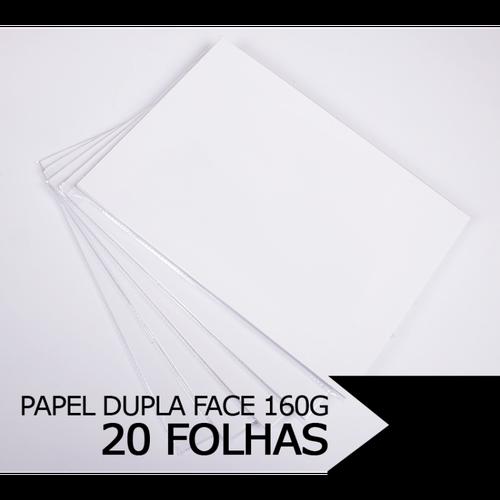Papel Fotográfico Glossy Dupla Face A4, 160g - 20 folhas