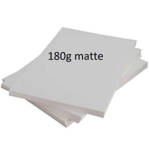 PAPEL MATTE 180G A4 (PACOTE 100 FOLHAS)