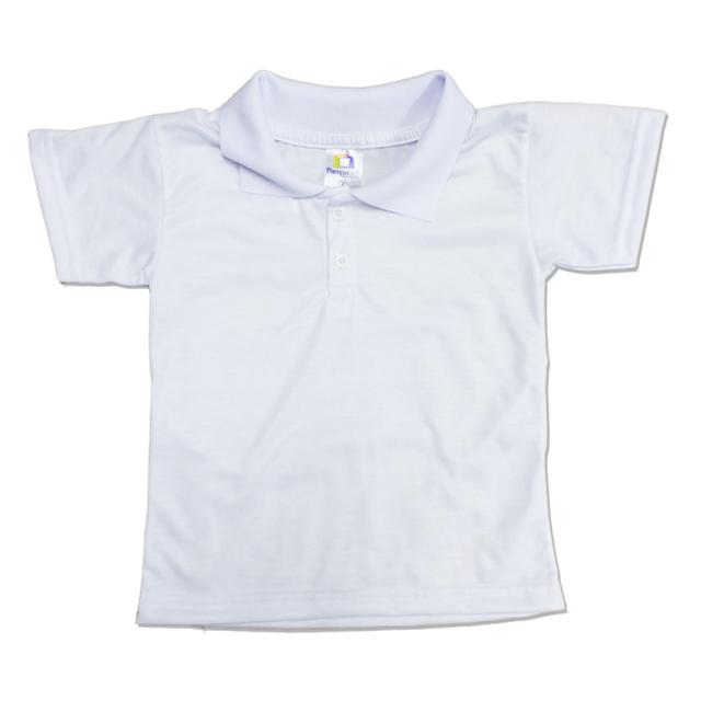 98af68bcb PAMPATECH - Camiseta POLO Manga Curta Infantil para Sublimação ...