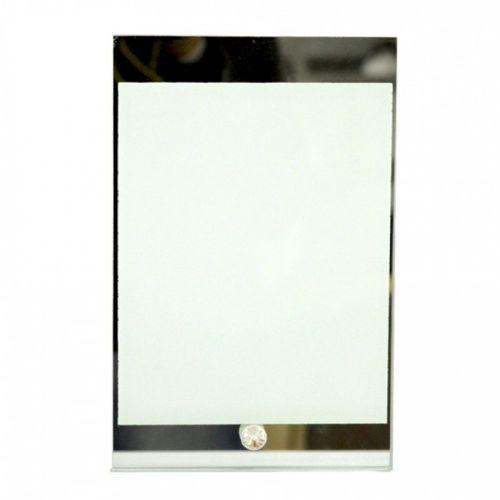 Porta Retrato em Vidro Temperado Espelhado - 15cm x 23cm