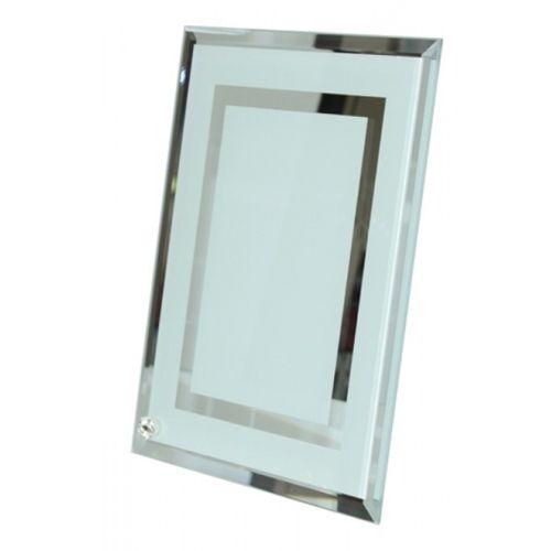 Porta Retrato em Vidro Temperado Espelhado - 23cm x 18cm