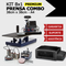 Prensa Combo 8x1 PREMIUM - 38x38 / Impressora L396, Bulk Ink + Tintas + Dispenser