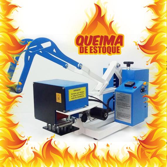 Prensa transfer giro automática 110 V - maior do mercado QUEIMA