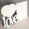 Quadro porta retrato MDF - LOVE 18x26