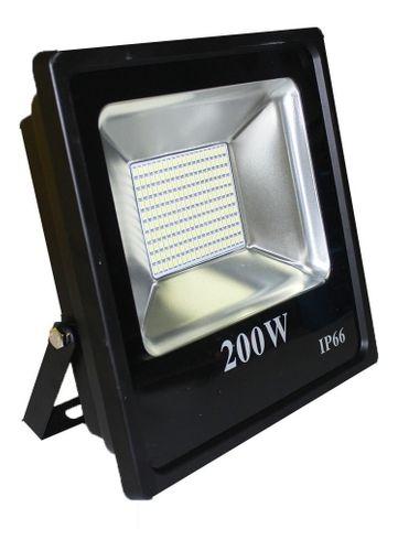Refletor Holofote LED Slim 200W Branco Frio