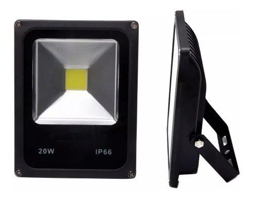 Refletor Holofote LED Slim 20W Branco Frio