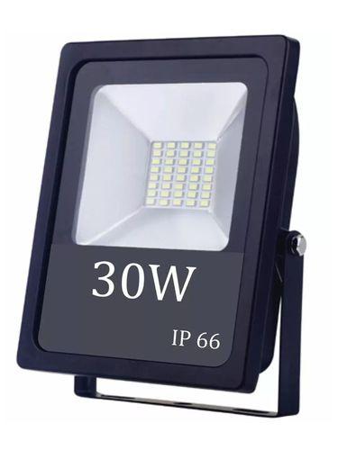 Refletor Holofote LED Slim 30W Branco Frio