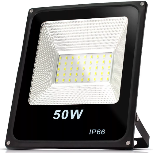 Refletor Holofote LED Slim 50W Branco Frio