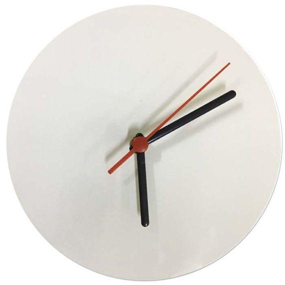 Relógio de metal branco 20x20