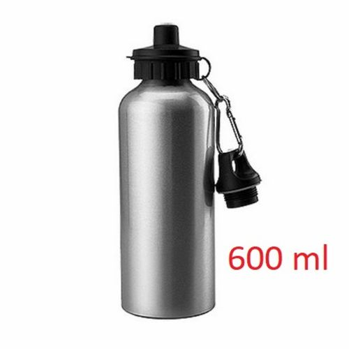 Squeeze de Alumínio 2 tampas - 600ml -PRATA ou BRANCO