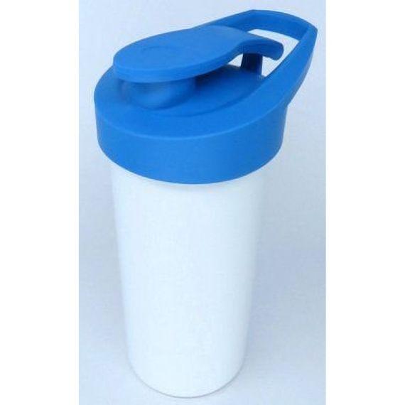 Squeeze Polímero Premium - BRANCO COM TAMPA COLORIDA