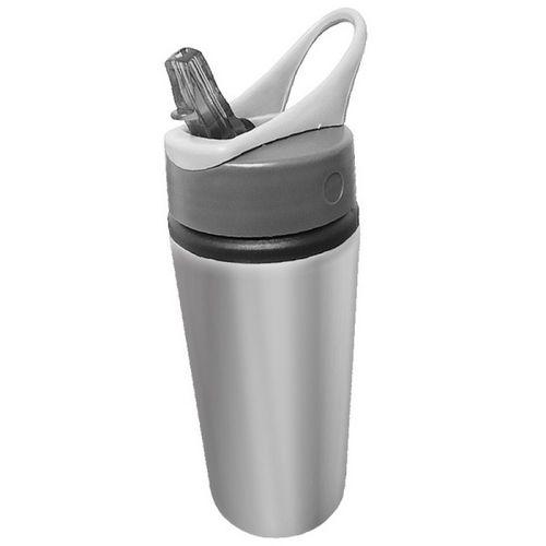 Squeeze Sport de Alumínio 600mls - PRATA ou branco