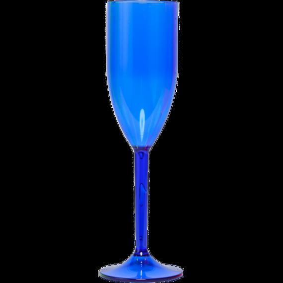 Taça champanhe acrílico - transfer laser 215ml