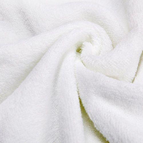 Toalha de banho lado para sublimar 100% - Branca