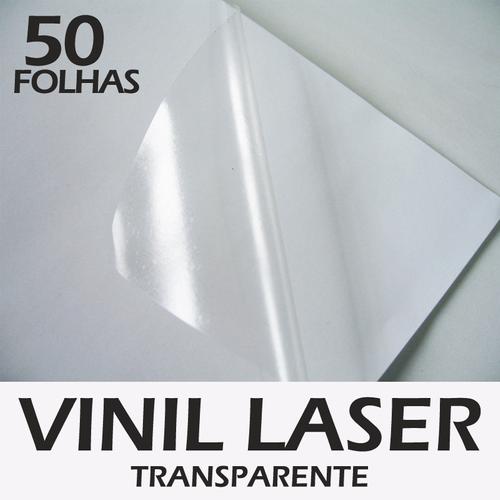 Vinil laser transparente 50 folhas A4