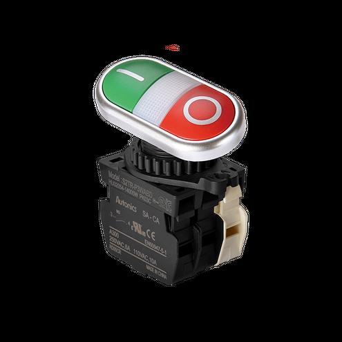 Botão Duplo Iluminado - 1NA+1NF 24VCC