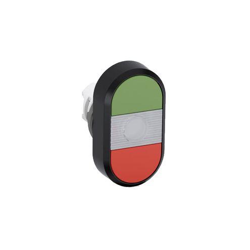 Cabeçote de Botão de Comando Duplo Iluminado - MPD1-11C