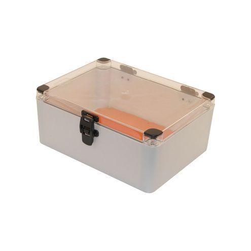 Caixa Plástica com Dobradiças e Fecho IP66 - 310x230x130mm
