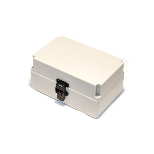 Caixa Plástica com Dobradiças e Fecho IP54 - 250x160x120mm