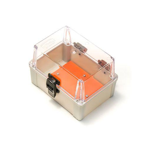 Caixa Plástica com Dobradiças e Fecho IP65 - 200x140x140mm