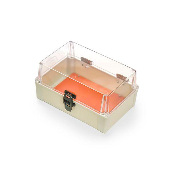 Caixa Plástica com Dobradiças e Fecho IP65 - 280x180x140mm