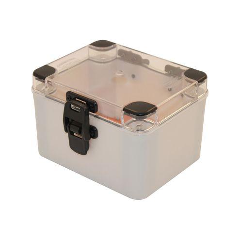 Caixa Plástica com Dobradiças e Fecho IP66 - 160x120x100mm