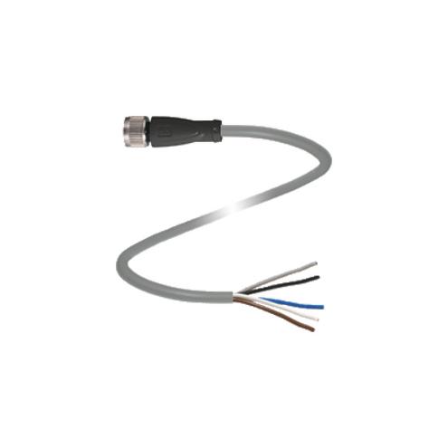 Conector Fêmea para Montagem M12 / 5 pinos - V15-G-2M-PVC