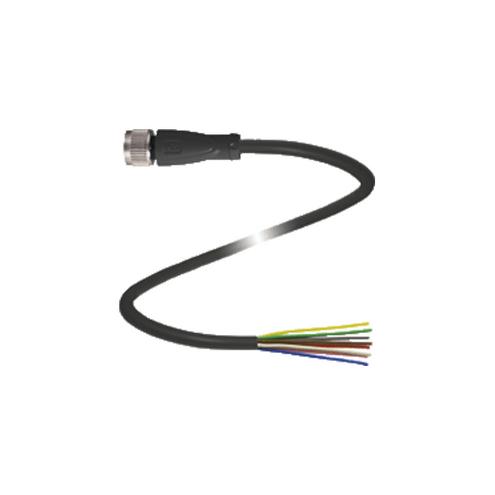 Conector Fêmea para Montagem M12 / 8 pinos - V19-G-BK5M-PVC-U