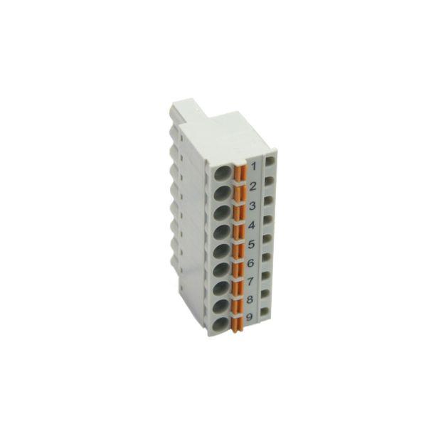 Conector para CLP Conexão Frontal por Mola 9 pinos - TA565-9