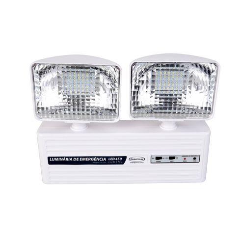 Luminária de Emergência 2 Faróis - 450lm