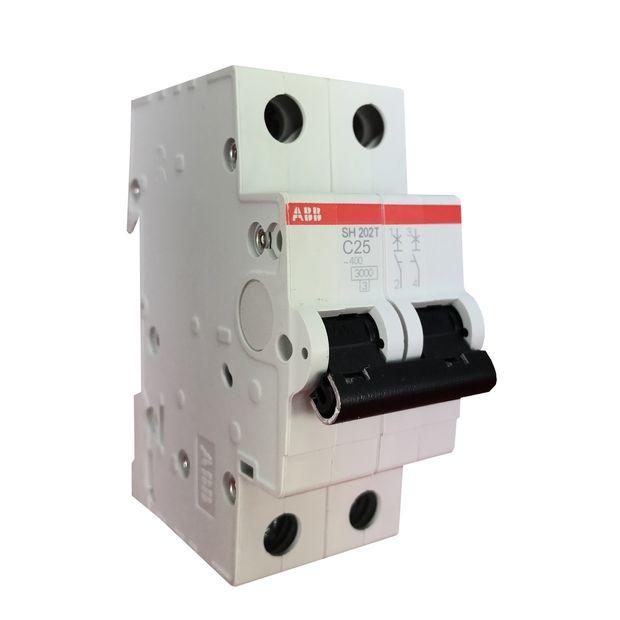 Minidisjuntor Bipolar - Curva C 25A - SH202 T-C25
