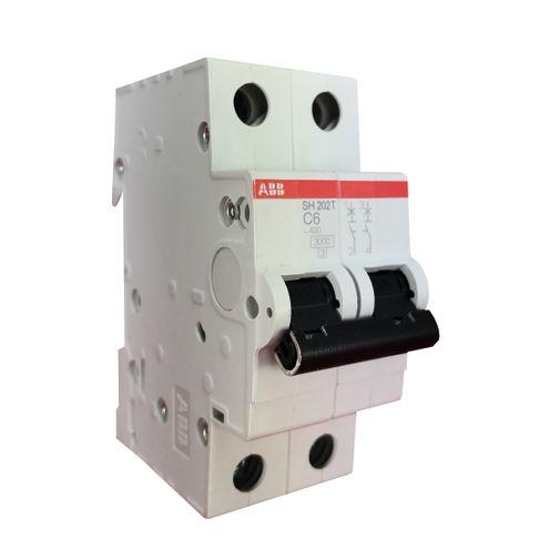 Minidisjuntor Bipolar - Curva C 6A - SH202 T-C6