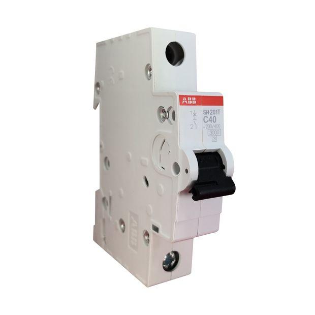 Minidisjuntor Monopolar - Curva C 40A - SH201 T-C40