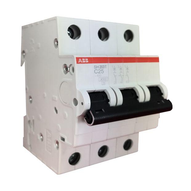 Minidisjuntor Tripolar - Curva C 25A - SH203 T-C25