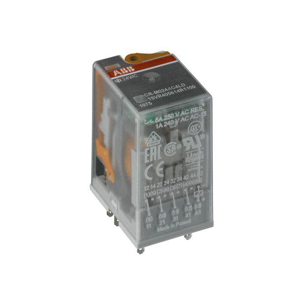 Relé de Interface com LED 4NAF 125VCC 6A - CR-M125DC4L