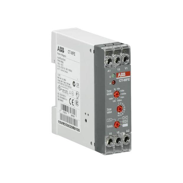 Relé Temporizador com 4 Funções 0,05s...100h 1NAF 24...240Vca/cc - CT-MFE