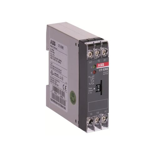 Relé Temporizador com Retardo na Energização 0,1...10s 1NAF 24VCA/CC - CT-ERE